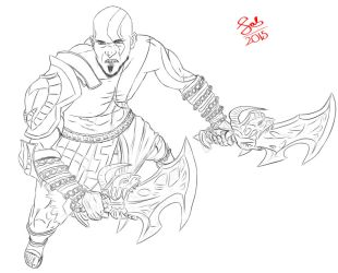 Kratos by Qsal