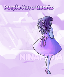 Purple Aura Quartz by Ninapedia