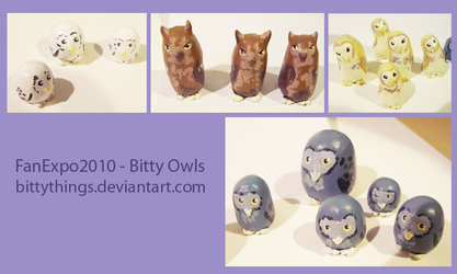 FanExpo 2010 - Owls - SOLD OUT by Bittythings