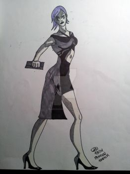 Black/Grey Dress Fashion Design by PENDINGInSaNiTy