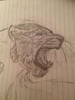 WIP - A Snarly Cat by Ingrissi
