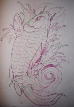 Koi fish flash01 by Brandotattoo