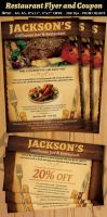Restaurant-Bar Magazine Ad or Flyer Template V2 by Hotpindesigns