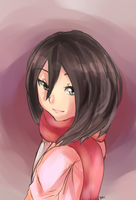 Young Mikasa Ackerman by aquamareinex