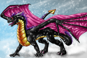 Secret Santa Dragon by Draconigenae666