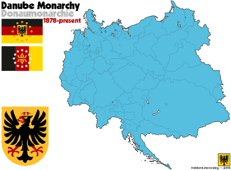[Nightrise] The Danube Monarchy with Flag and CoA by ValdoreJavorsky