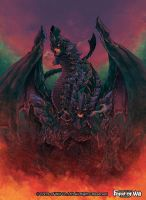 The name of the dragon Amphisbaena. by kitakazee