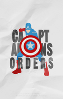 Captain's Orders :: MINIMALIST POSTER by Diagonas
