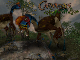 Carnivores Junglescape : Oviraptor family by Keegz97