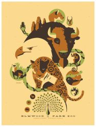 elmwood zoo poster by strongstuff
