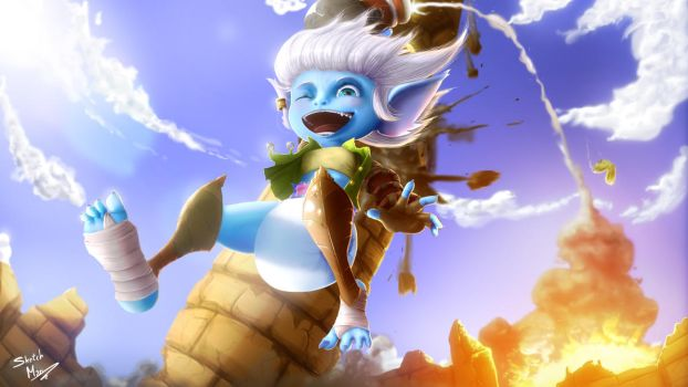 (old)Tristana soft landing by SketchMan-DL