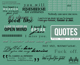 Quotes (Pack PNGs - Brushes) by Absolute-A