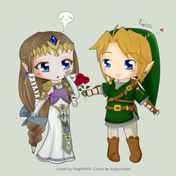 Chibi ZelxLink -Colored by AHussein