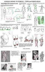 Female body tutorial: Tips and mistakes by HolyElfGirl