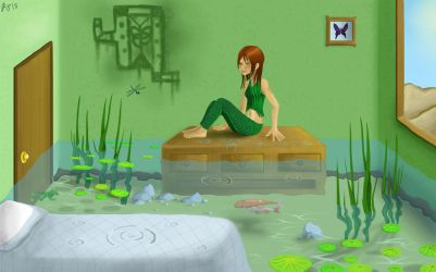 Water wonderland: Indoor swamp by berryrue