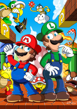 Super Mario Bros by Kibaro-Kun