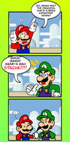 Mario, Grab His Stache by JamesmanTheRegenold