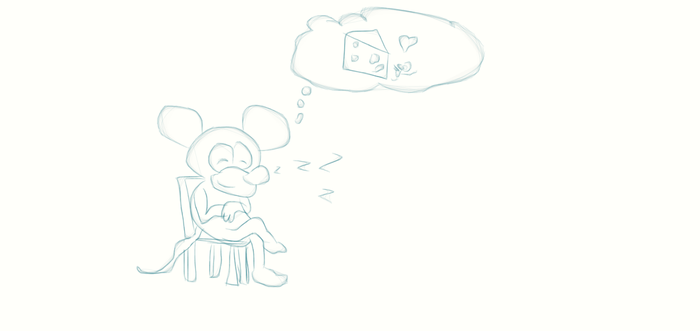 Sleeping Mouse by JustATry2552