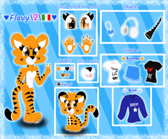 Flavy the Tiger - :Ref Sheet: by TheTigressFlavy