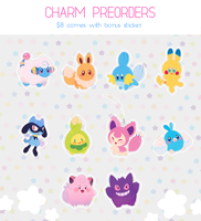Pokemon Charms Preorders! $8aud by ieafy