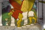 Ballad the Greek, gryphon and human fantasy pic by animagusurreal