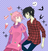 AT : Marshall Lee + Prince Gumball by EmilyHime
