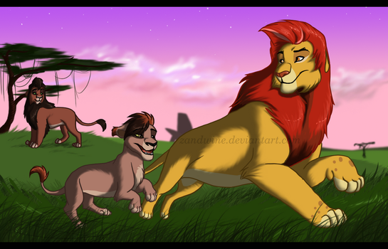 The Lion King - off to training! by Zandwine
