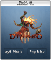 Diablo III - Witch Doctor Icon by Crussong