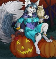 lunarmagic  YCH Halloween Colored by Ralloonx by lady-cybercat