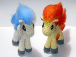 Ponyta (Finished Plushie or Pattern For Sale)