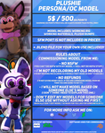 Plushie Character Model Prices | .:Commissions:. by CortezAnimations