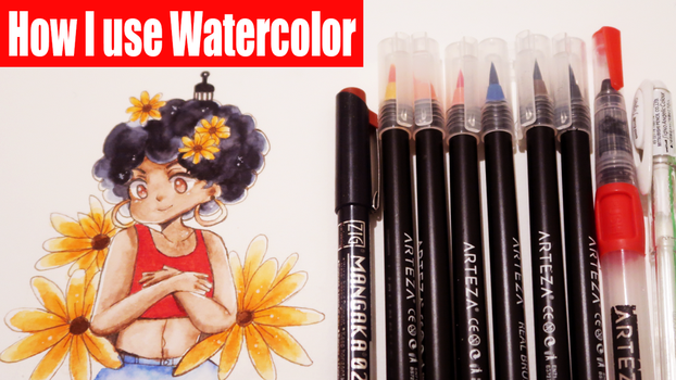 How I use Watercolor (link to video below ) by PartiiNeko