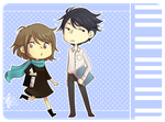 Nodame stickers by Watertae