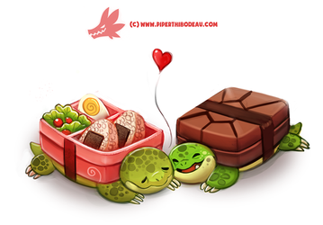 Daily Paint 1300. Bento-Box Turtles by Cryptid-Creations