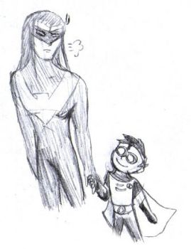 Nightwing the babysitter by ServantsofJustice