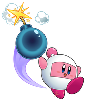 kirby abilities extra - kirby bomberman by Efraimrdz