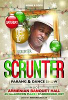 Scrunter Christmas Flyer by AnotherBcreation