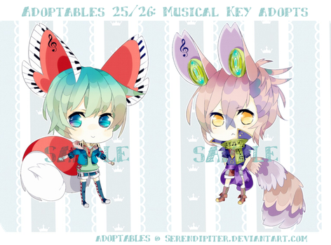 [CLOSED] Adoptables 25/ 26: Lyrical Key Adopts by Staccatos