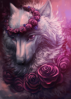 Pink roses by Alaiaorax