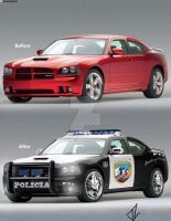 Charger cambiado a policia by airwolf911