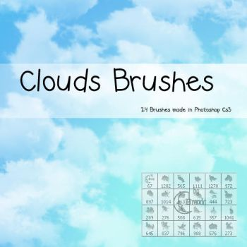 Clouds Photoshop Brushes by Coby17