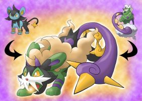 Luxio and Tornadus fusion