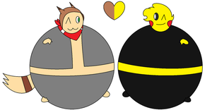 Me and Loki Inflated by inflationlover1234