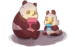 Chilling with panpan by RozuPandy