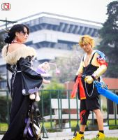 Tidus and Lulu Final Fantasy X by DraconPhotography