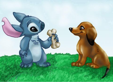 Stitch and Heidi by RoxyDog