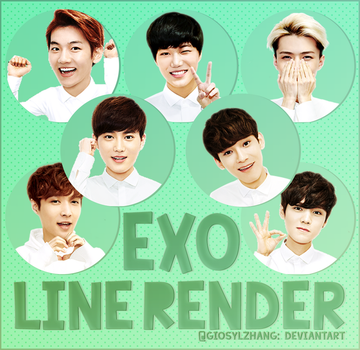 140610 EXO LINE RENDER PACK~ by GiosylZhang