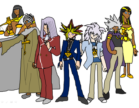 The 7 keepers of the millenium items by Amazingangus76