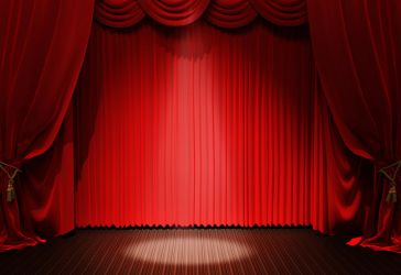 Red Curtain Background Texture 03 by llexandro