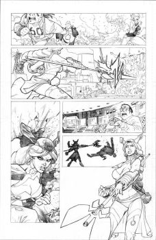 INVINCIBLE 69 page 7 pencils by RyanOttley